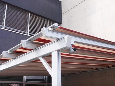 Store véranda, structure aluminium