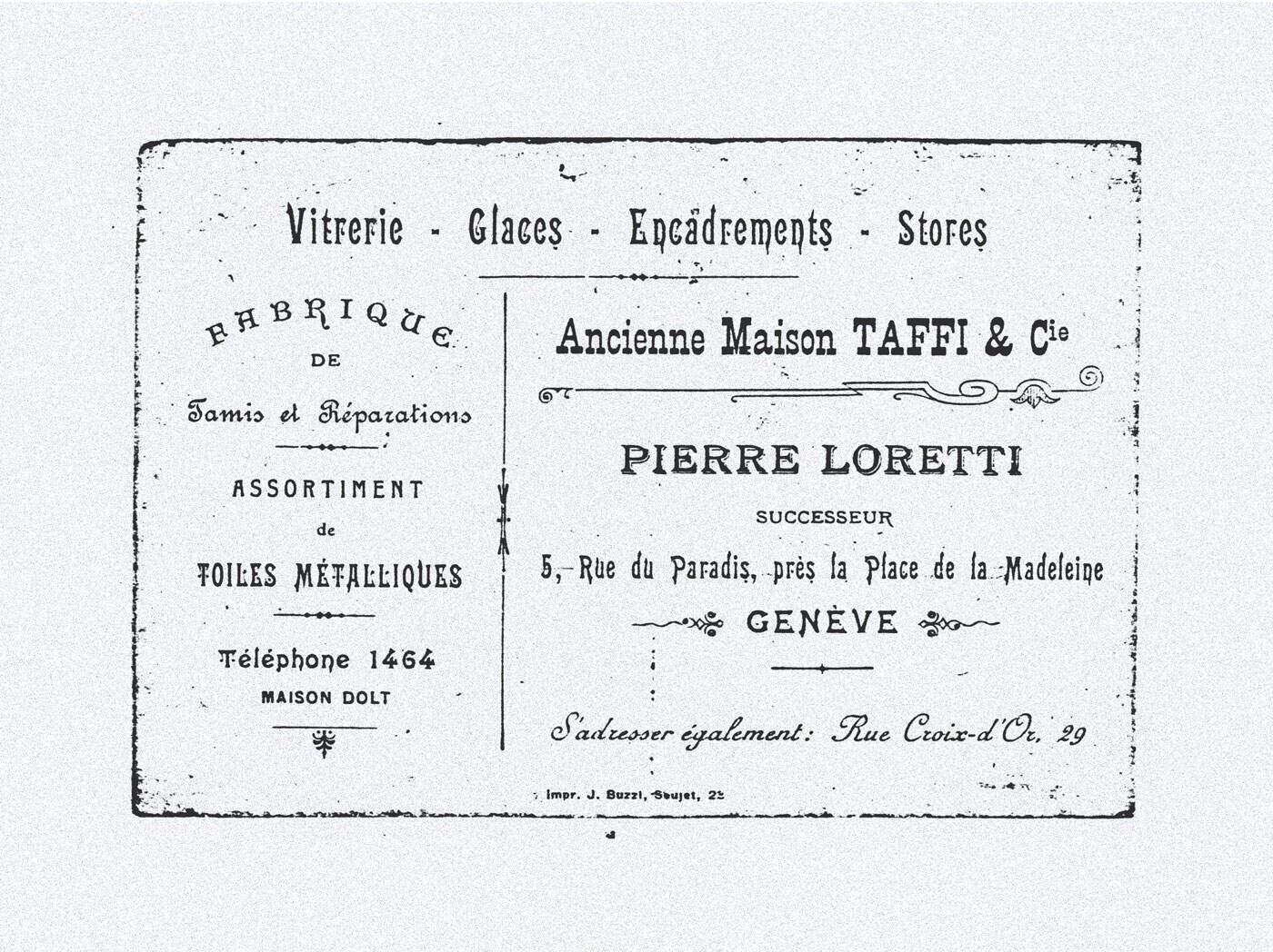 Ancienne-publicité Taffi
