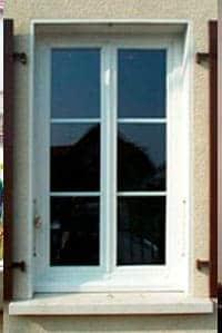 Fenêtre de profil avec réhabilitation, vue extérieure